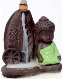 Handmade Buddha Chakra Smoke Backflow Cone Incense Holder Burner