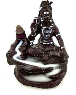 Handmade Lord Shiva Smoke Backflow Cone Incense Holder Burner