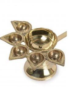 Brass Panchmukhi Aarti Diya