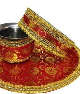 Karwa Chauth Puja Thali Steel