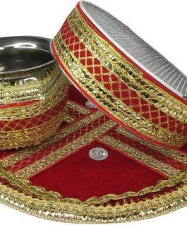 Karwa Chauth Decorated Thali